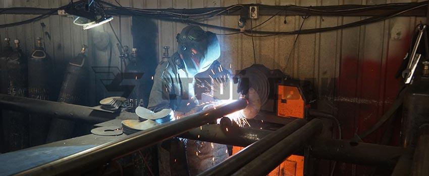 Производство винтовых свай на заводе свайных конструкций