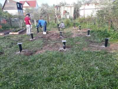 Свайное поле 6 на 9 метров