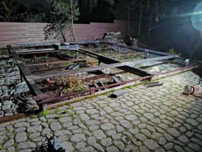Фундамент под печь на винтовых сваях