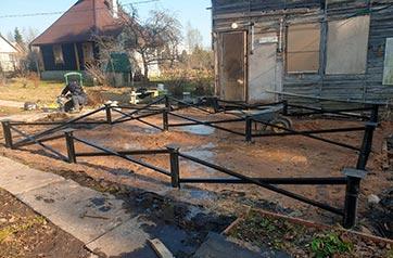 Установка свайного фундамента с обвязкой в поселке Мшинская