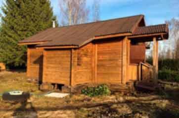 Подъем дома на винтовые сваи в селе Орлино