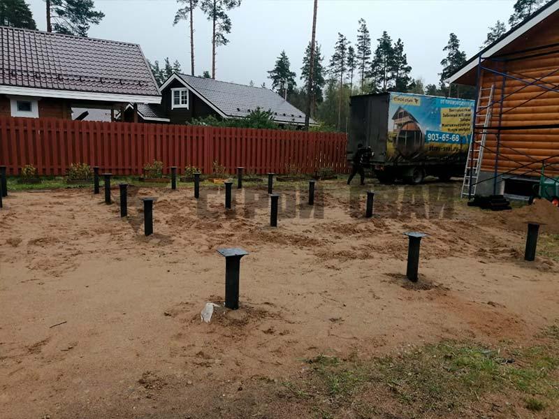 Свайно-винтовой фундамент 10 на 10 метров