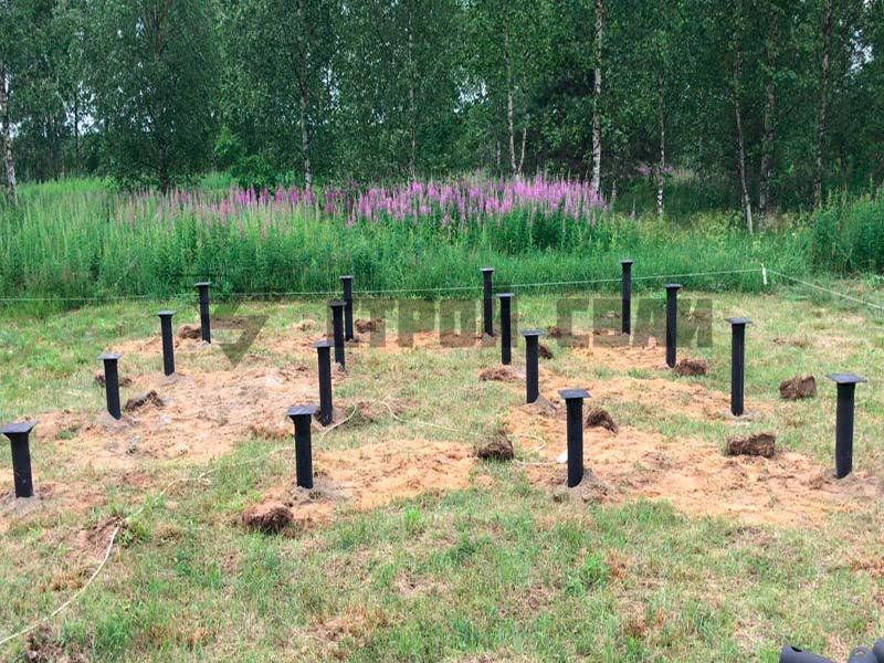 Свайно-винтовой фундамент 5 на 4 метра