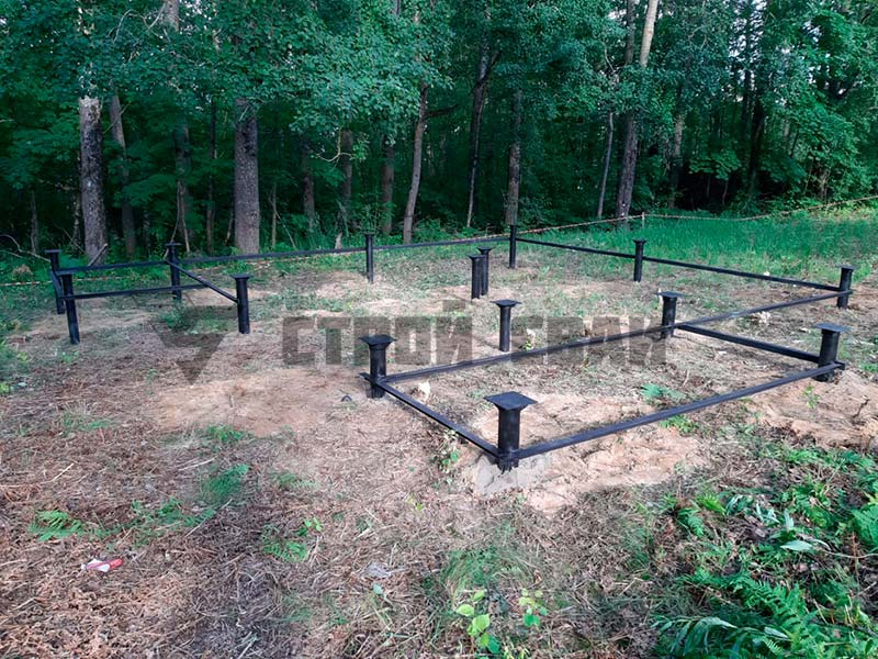Свайно-винтовой фундамент 5 на 5 метров