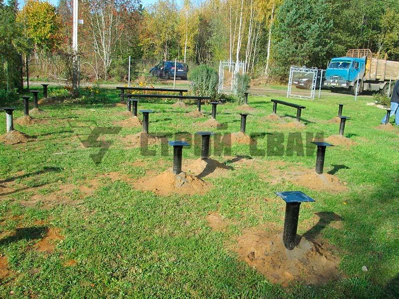 Свайно-винтовой фундамент 6 на 10 метров