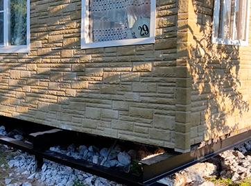 Подъем дома и ремонт фундамента в СНТ Горизонт