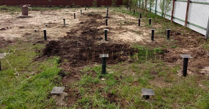 Монтаж свайно-винтового фундамента под ключ в поселке Лебяжье